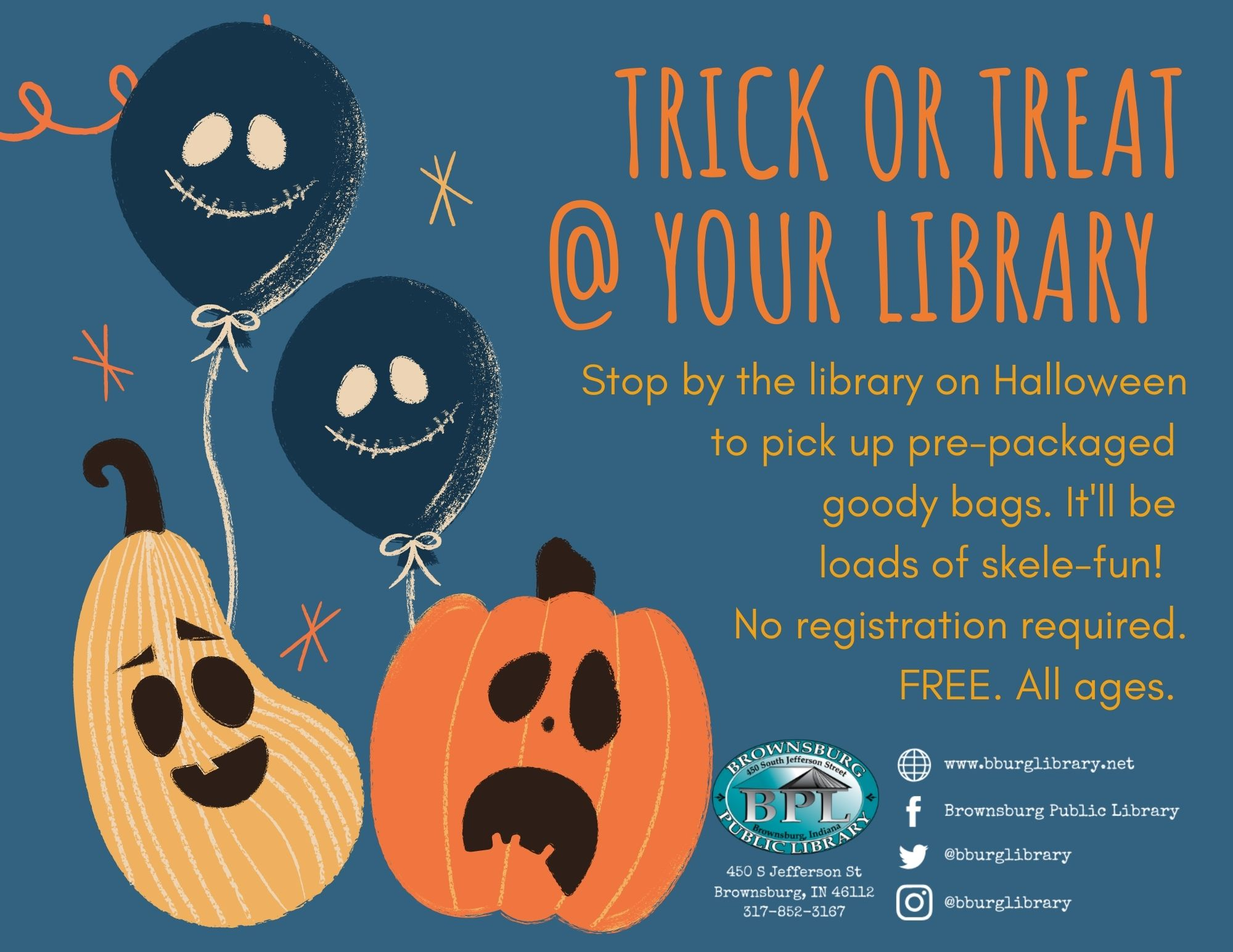 trick or treat at your library october 31
